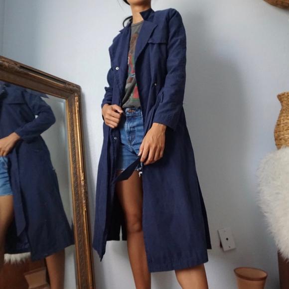 SHEIN Jackets & Blazers - SheIn Navy Blue Trench Coat Lightweight Jacket XS